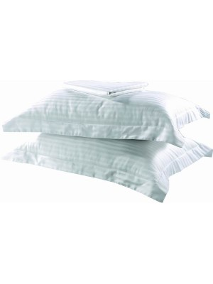 100% Egyptian Cotton Striped Satin - 2 PCS SET - Oxford Style