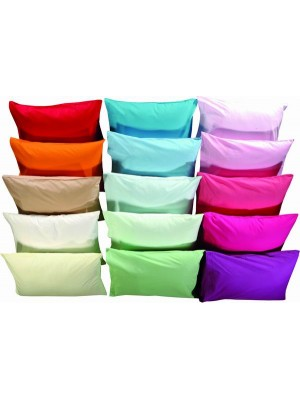 Set of Pillow Cases - 2pcs size 50X70cm - Plain Colors - 100% Cotton