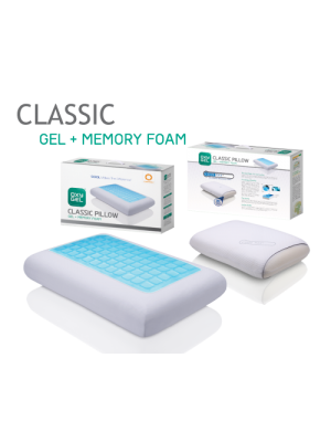 Gel + Memory Foam Pillow - 40cm X 60cm X 14cm