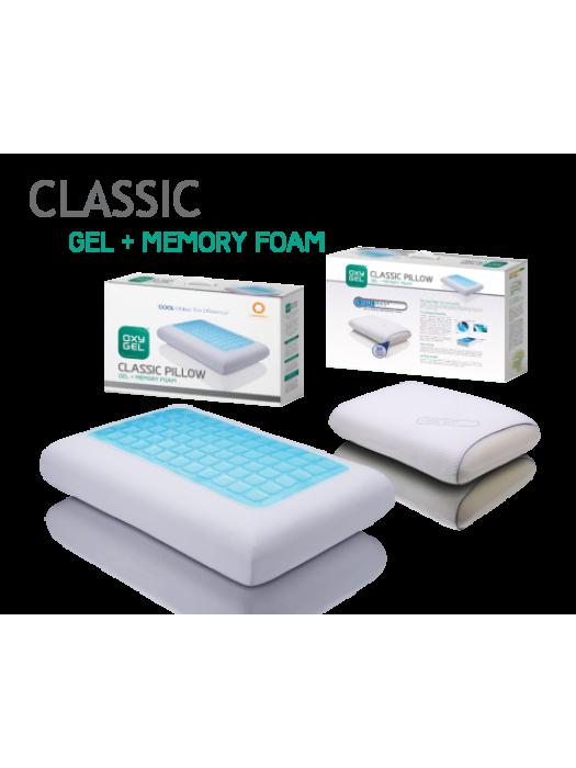 Gel + Memory Foam Pillow - 40cm X 60cm X 14cm