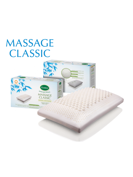 Latex Pillow - Massage Classic - 40cm X 65cm X 14cm
