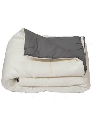 Double Face Quilt Cream/Gray 400gsm - Select color and size