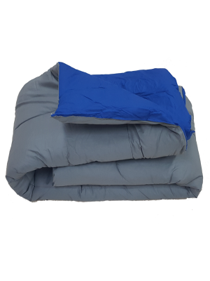 Double Face Quilt Gray/Navy 400gsm - Select color and size