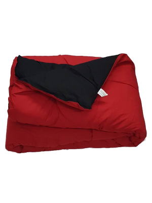 Double Face Quilt Red/Black 400gsm - Select color and size