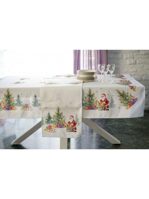 Christmas Table Cloth Size: 150X260cm