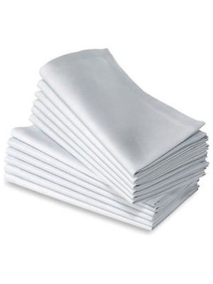 White Dinning napkins - 12pcs 45X45cm each