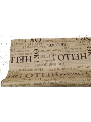 Table Cloth PVC for outdoors Letters - Purchase by running meter - width 140cm