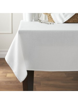 White (No Iron) table cloth - select size