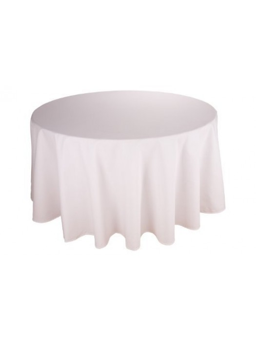 White Cotton Table Cloth - Round 330cm - Special size for big round tables