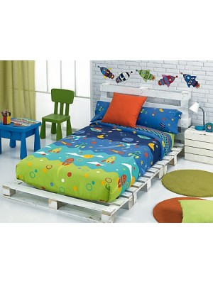 Summer Bedsheet Set - Single & Large Single Bed - Design: SPACE
