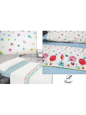 Summer Bedsheet Set - Single & Large Single Bed - Design: GLOBE