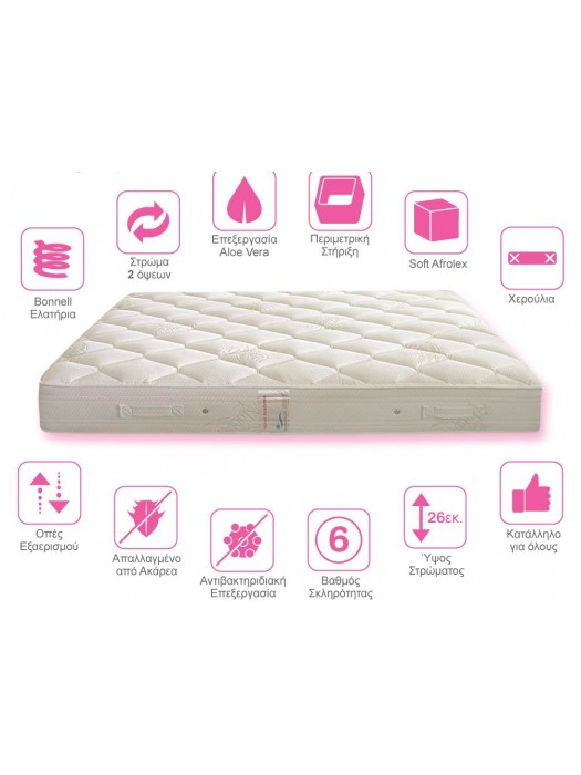 Anatomic Mattress height 26cm - VELVET - Select Size