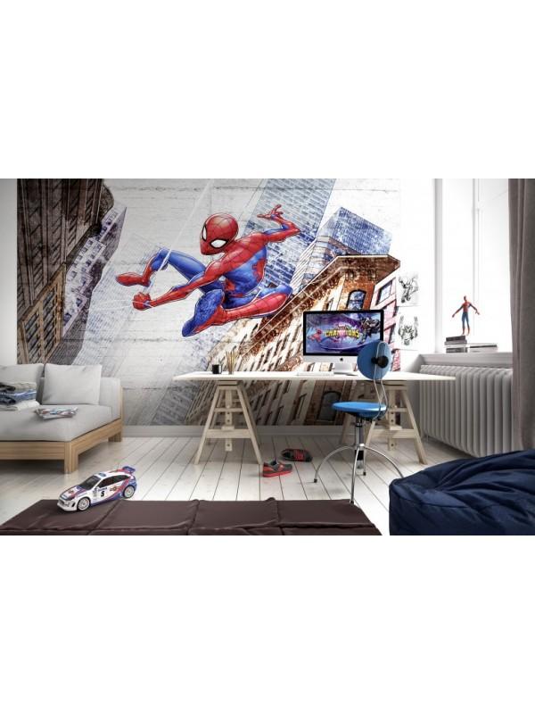 Wallpaper - Spiderman New Concrete- Size: 368 X 254cm