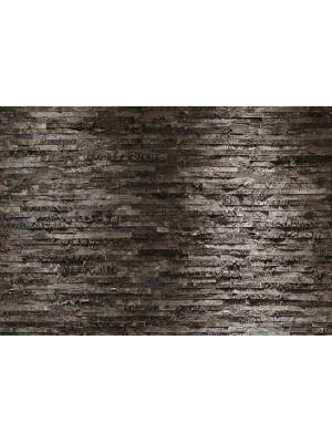 Wallpaper - Black stone wall - Size: 368 X 254 cm