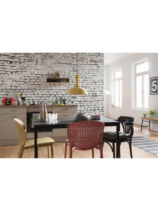White Brick Wall- Size: 368 X 254 cm