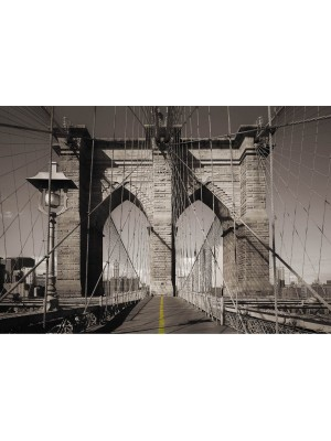 Wallpaper - Brooklyn Bridge - New York - Size: 368 X 254 cm