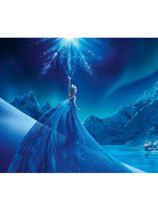 Wallpaper - Frozen Snow Queen - Size: 184 X 254cm