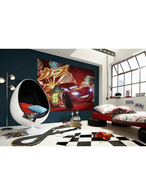 Wallpaper - Cars Neon - Size: 254 X 184cm