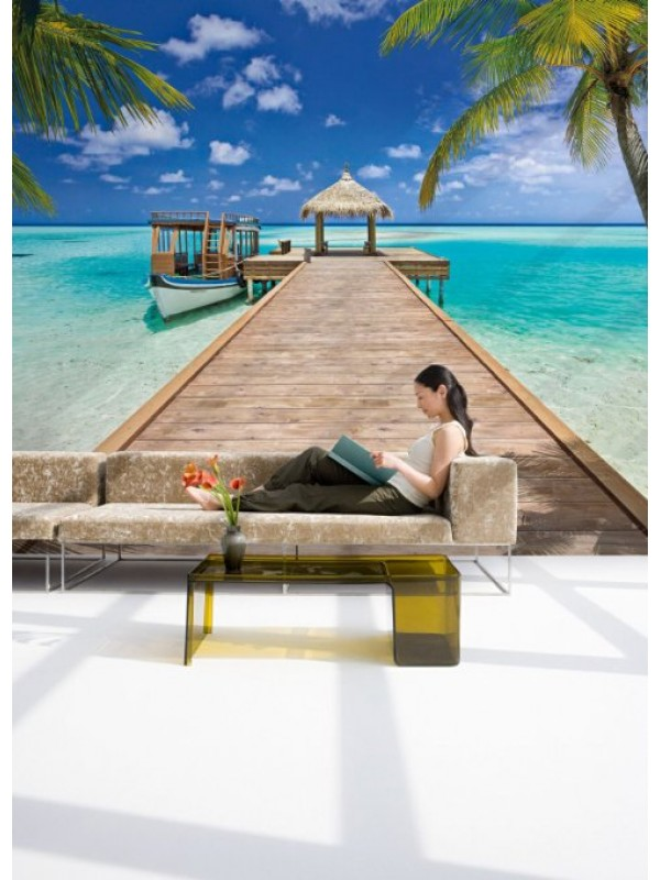 Wallpaper - Beach Resort - Size: 368 X 254 cm