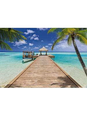 Wallpaper - Beach Resort - Size: 368 X 254 cm