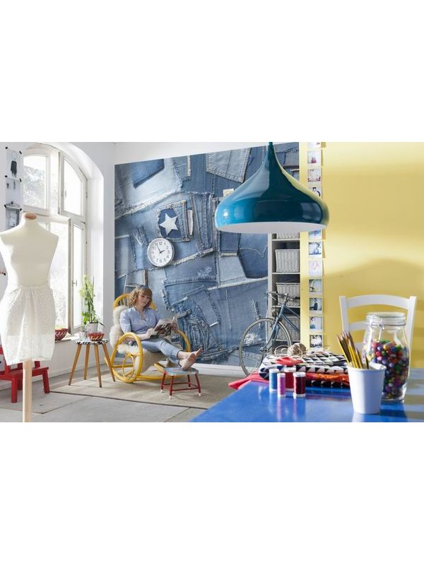 Wallpaper - Jeans - Size:368X254cm
