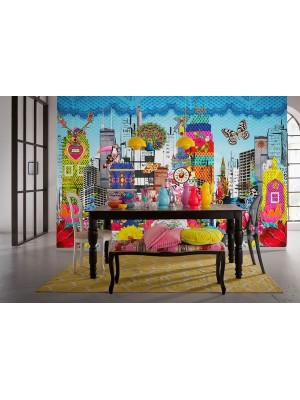 Wallpaper - Melli Mello City - Size: 368 X254cm