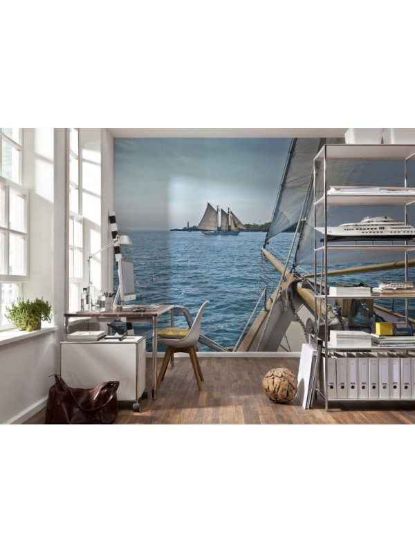Wallpaper - Sailing - Size: 368 X 254 cm