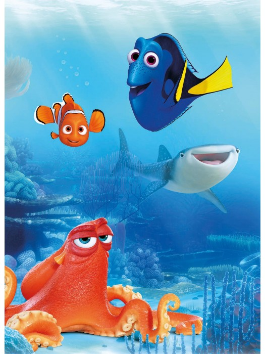 Wallpaper - Dory and Freinds - Size: 184X254cm