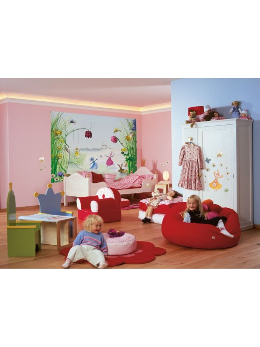 Wallpaper - Princess and Fairies - Size: 184 X 254cm
